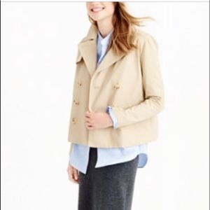 J.Crew Swing Cropped Trench Coat